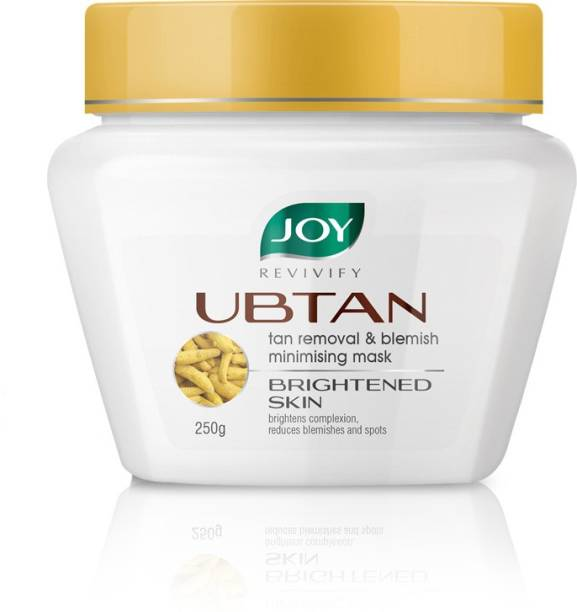 Joy Revivify Ubtan Face Mask Tan Removal & Blemish Minimising Mask With Saffron, Turmeric, Chickpea, Sandalwood & Almond Oil, Ubtan Face Pack Mask - No Parabens