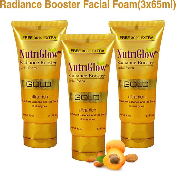 NutriGlow Gold Radiance Booster Foam (Pack of 3) Face Wash