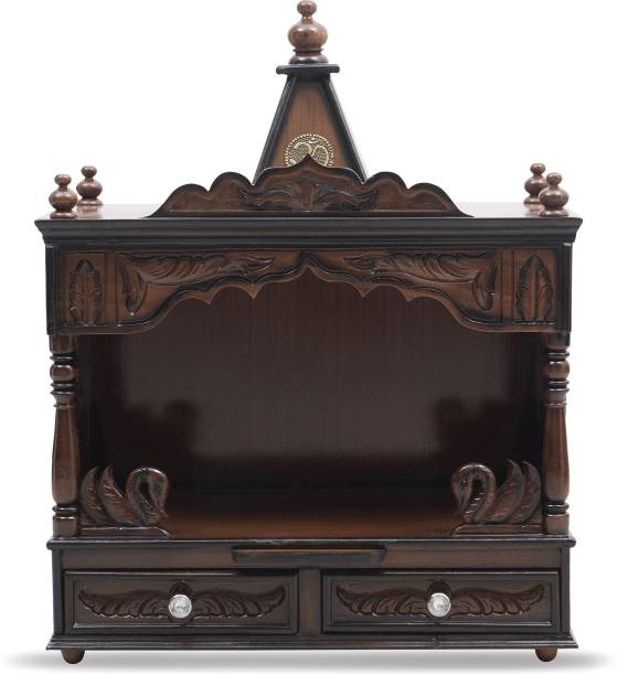 DZYN FURNITURES Sukhatman Wooden Temple Solid Wood Home Temple