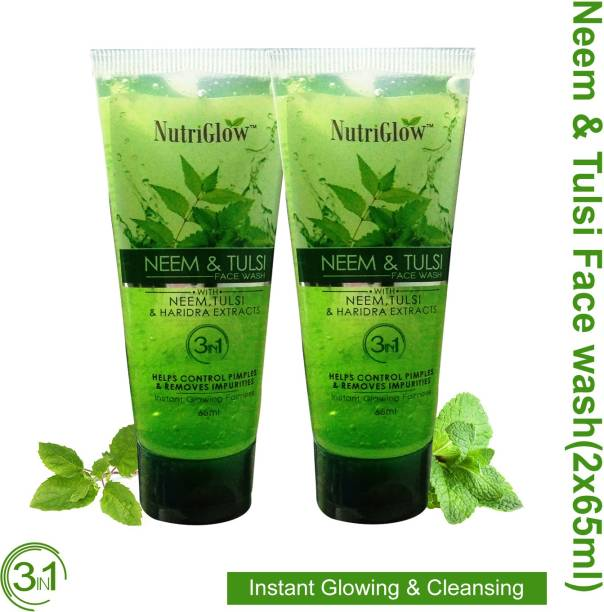 NutriGlow Neem Tulsi  65ml (Pack Of 2) Face Wash