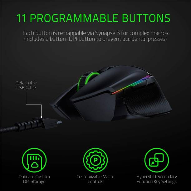 Razer Basilisk Ultimate - Wireless Gaming Mouse with Charging Dock Wireless Optical  Gaming Mouse