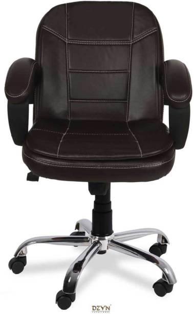 DZYN FURNITURES Baxtonn Medium Back Height Adjustable Leatherette Office Executive Chair