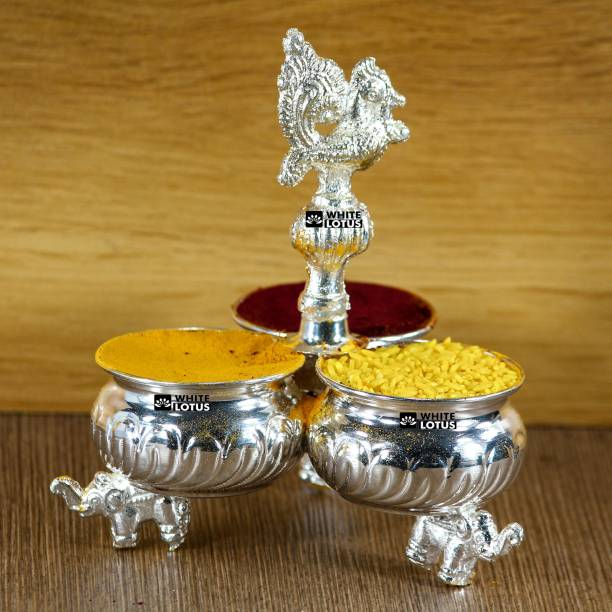WHITE LOTUS Kumkum Bharani Special Silver Plated