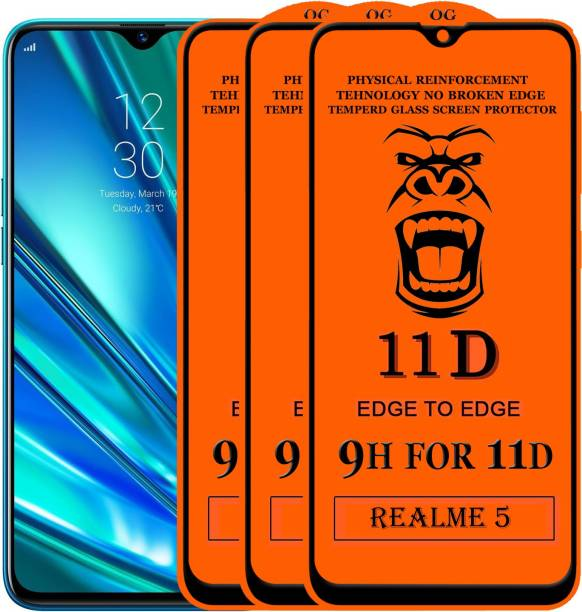 Xester Edge To Edge Tempered Glass for Realme 5