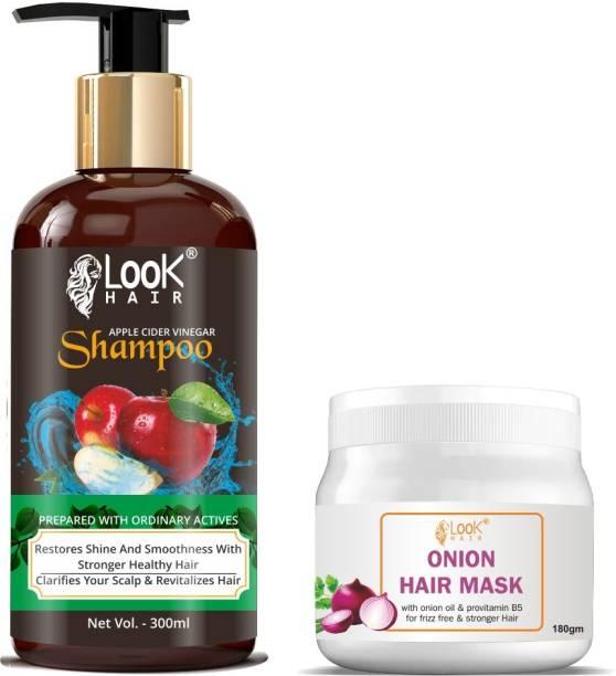 look hair Onion Hair Shampoo & Hair mask 2 in 1 Combo Hair Package
