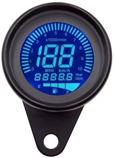 J T Auto New Motorcycle LCD Instrument Speed Odometer Oil Meter Hour Speedometer LCD Tachometer Instrument 12v (SPD BLK) Digital Speedometer