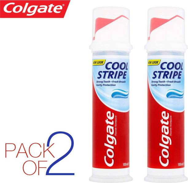 Colgate ( pack of 2 ) COOL STRIPE , STRONG TEETH , CAVITY PROTECTION IMPORTED Toothpaste