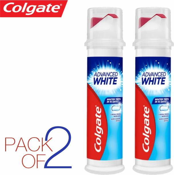 Colgate (PACK OF 2 ) ADVANCE WHITE ,WITH MICRO-CLENSING CRYSTALS IMPORTED Toothpaste