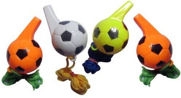 Scorpion Pack of 12 Colorful Football Whistle Party Noisemakers for Kids Squeeze Whistle