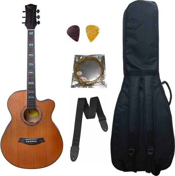 swan7 40C Semi-Acoustic Guitar -Brown Matt Maven Series with Equalizer With Bag,String , Strap and Picks Semi-acoustic Guitar Spruce Rosewood Right Hand Orientation