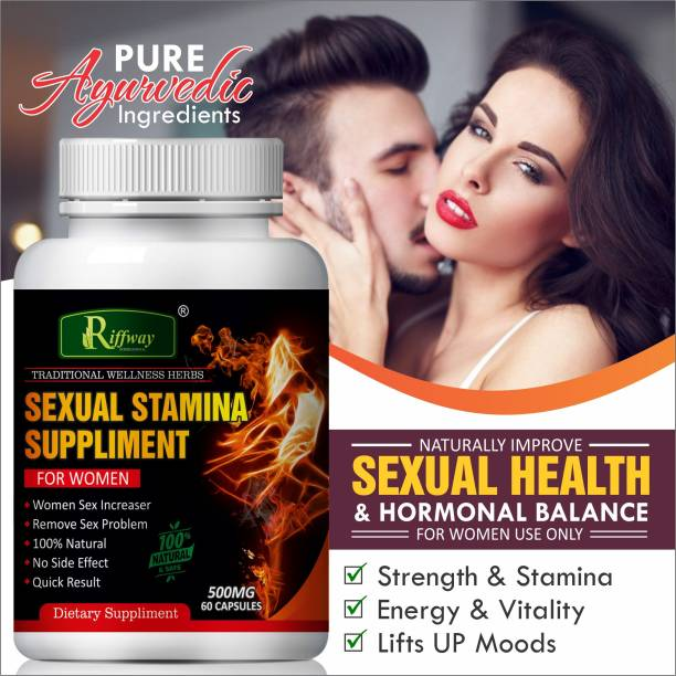 Riffway Sexual Stamina Supplement For Women Capsules Quick Sex Power Tablets (60 Capsules) 100% Ayurvedic