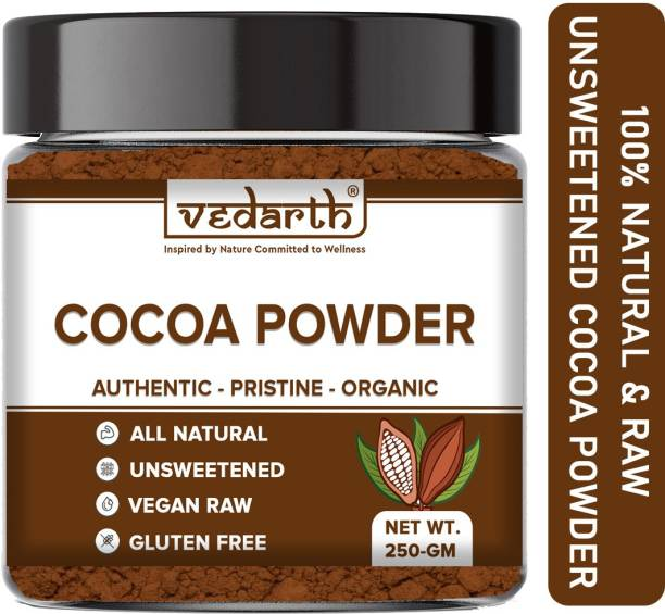 Vedarth Unsweetened & Natural Cocoa Powder for Making Chocolate Cake, Cookies, Chocolate Bread, Shake, Brownies, Chocolate Desserts Cocoa Powder
