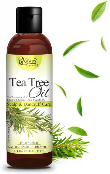 Khadi Cosmetics Tea Tree Hair Oil (Fast Hair Growth, Stops Hair Fall, Reducing Dandruff Problem) Hair Oil