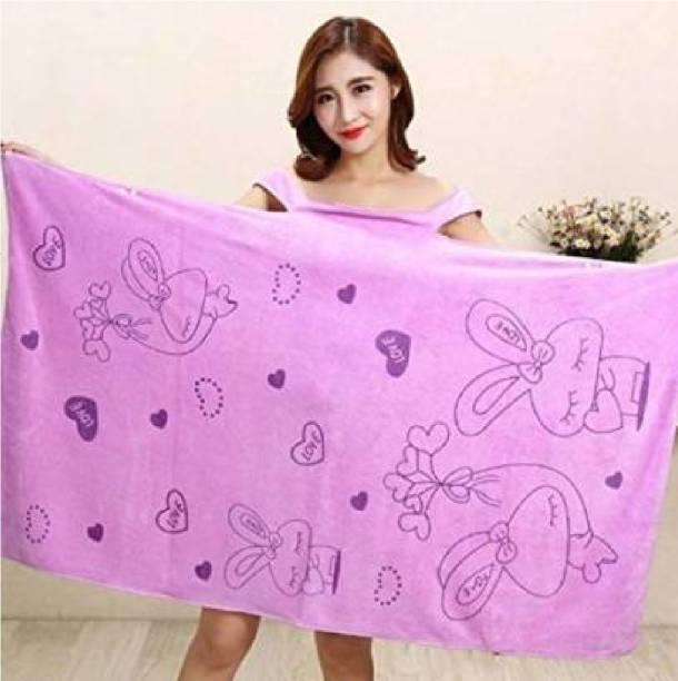 Jiyan Enterprise Purple Free Size Bath Robe