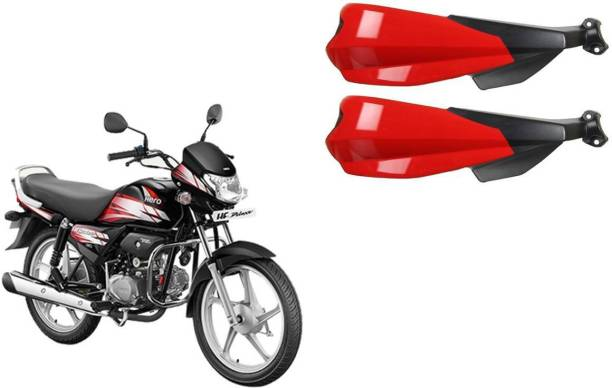 Buras NEW RED SHINE PROTECTIVE HANDGUARD FOR NEW HERO HF DELUXE QUALITY PRODUCT FOR THE BIKERS Handlebar Hand Guard