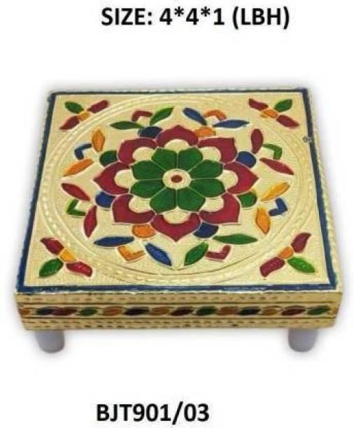 Nandani Enterprise Wooden Pooja Chowki