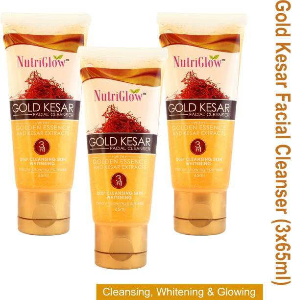 NutriGlow Gold Kesar Facial Cleanser (Pack of 3) Face Wash