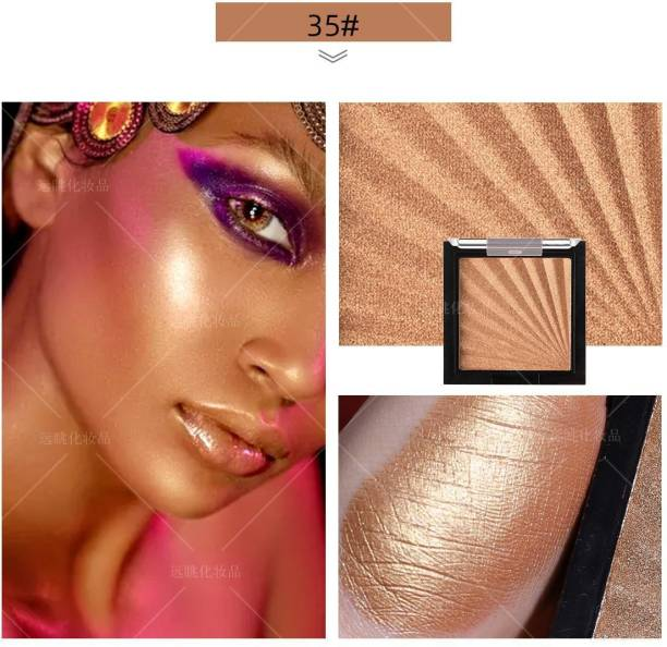 Beauty Jon M.N Glitter Highlighter Makeup Shimmer Highlighter Powder Palette. Highlighter