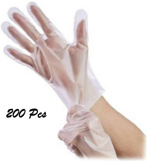 NARV 200 Pices Food Safe Disposable Gloves, Food Handling, Transparent, One Size Fits Most Thicker Disposable Food Prep Gloves, Bulk Disposable Kitchen Gloves Transparent for Cooking, Food Service, Cleaning, Food Prep Gloves for Cooking, Food Handling, Kitchen, BBQ, Cleaning Latex  Safety Gloves