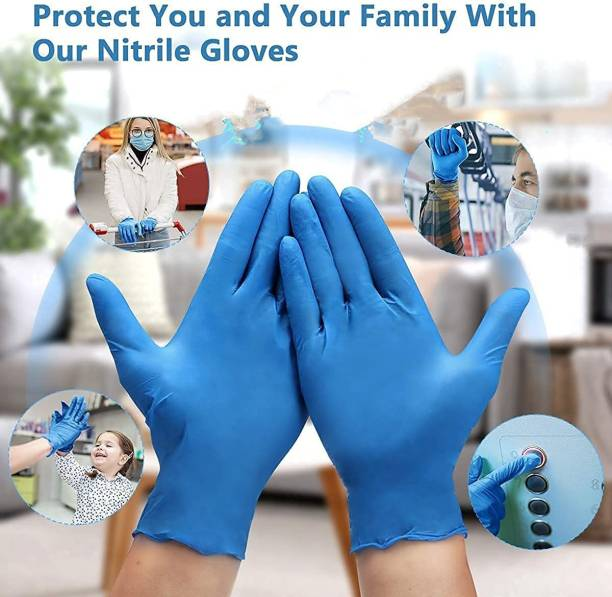 onsafe Nitrile Examination Gloves, Disposable Powder Free hand Gloves CE Certified Nitrile Exam Gloves size xl Nitrile Surgical Gloves