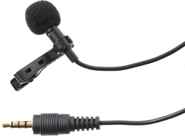 Shopfloor.XYZ 3.5mm Clip Microphone For Youtube, Collar Mike For Voice Recording, Lapel Mic Mobile, Pc, Laptop, Android Smartphones, Dslr Camera Clip On Mini Lapel Lavalier Microphone