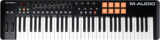 M-Audio Oxygen 61 IV MIDI Controller with Velocity Sensitive Keys and Trigger Pads Plus ProTools Digital Portable Keyboard