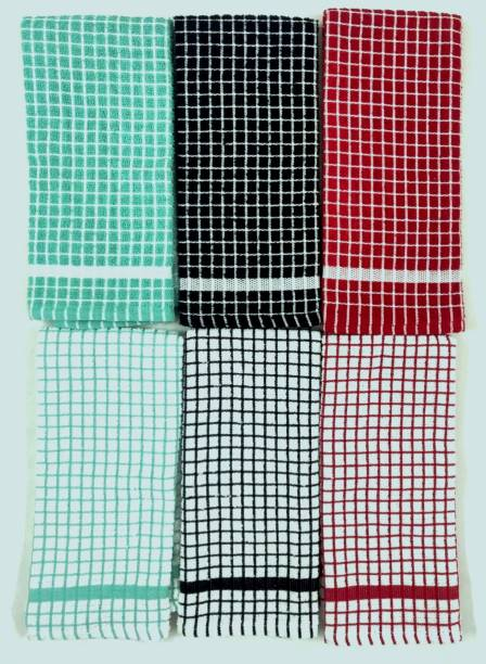 BRODEES Kitchen Towel Pack of 6   320 GSM Quality Multicolor Napkins