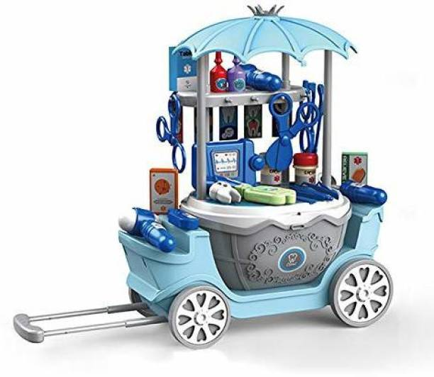 Smartcraft 4 in1 Surprise Dental Clinic Car, Pretend Play Doctor Set Toys for Children - 40 pcs (Multicolor)