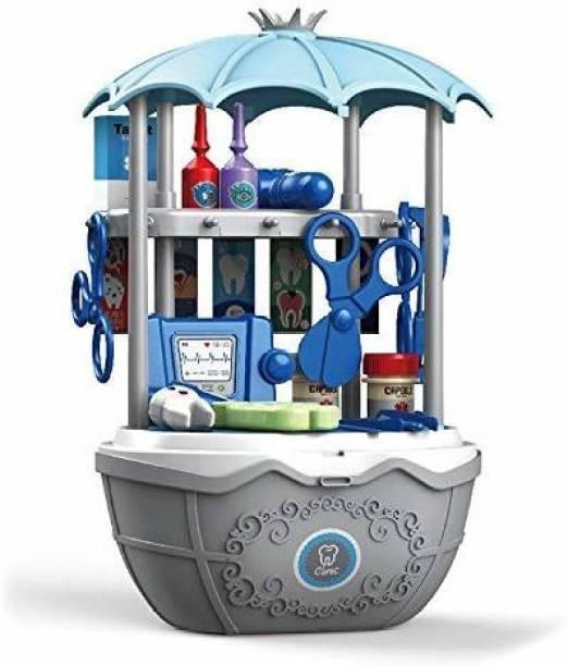 Smartcraft 2 in1 Surprise Dental Clinic Car, Pretend Play Doctor Set Toys for Children - 39 pcs (Multicolor)