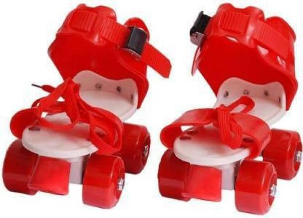 Animani Collection Charming Skates Shoes For Kids / Childrens - UNISEX In-line Skates Quad Roller In-line Skates (adjustable size) Quad Roller Skates - Size 5 UK (Red) Shoe Skates - Size 4-10 UK (Red) Quad Roller Skates - Size 4-10 UK