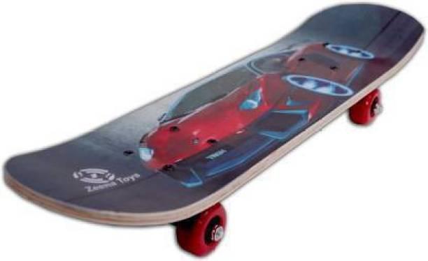 samarth enterprise RED CAR SKATEBOARD 24 inch x 6 inch Skateboard