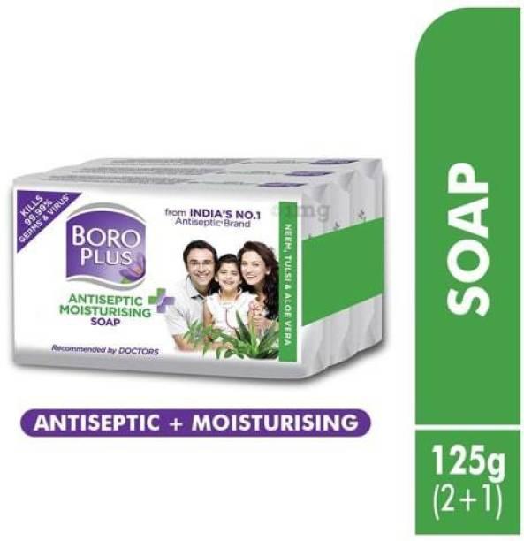 BOROPLUS Antiseptic + Moisturising Soap - Neem, Eucalyptus& Honey-125gm