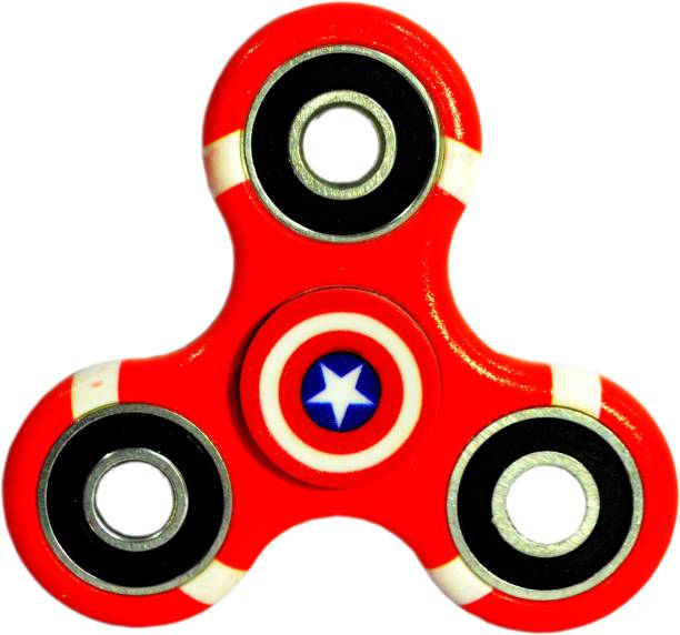 PREMSONS Fidget Tri-Spinner Printed 608 Four Bearing Ultra Speed Hand Spin Toy