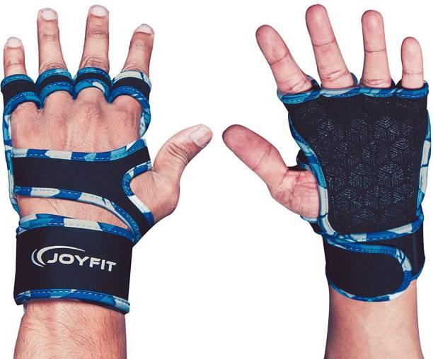 Joyfit Gym Gloves- Thick Wrist Support, Cotton Padding, Anti-Slip Lining Gym & Fitness Gloves