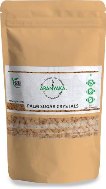 Aranyaka NATURALLY EXTRACTED PALM SAP SUGAR CRYSTALS - Premium Quality (Export Grade)- Panna Kalakand - 500g-100 % Pure and Unrefined Sugar