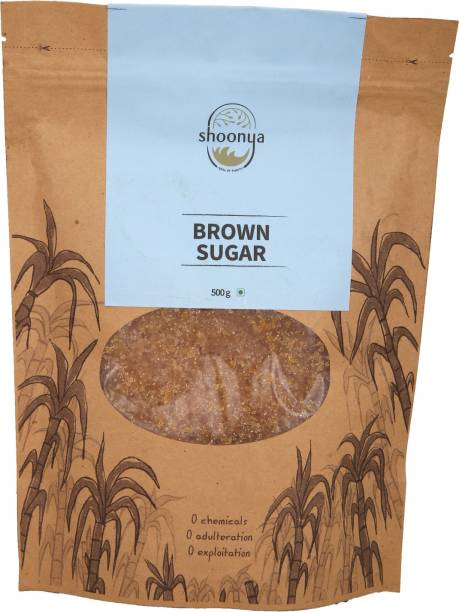 shoonya Organic Brown Sugar | Pure Natural Chemical Free unrefined unprocessed Brown Sugar - 500 gm Sugar
