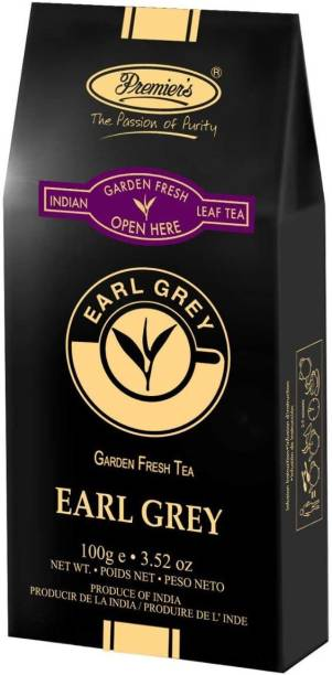 Premiers Earl Grey Tea | 50 Cups | 100 Grams | PB-2 Black Board Standy Pack Bergamot Orange Tea Pouch
