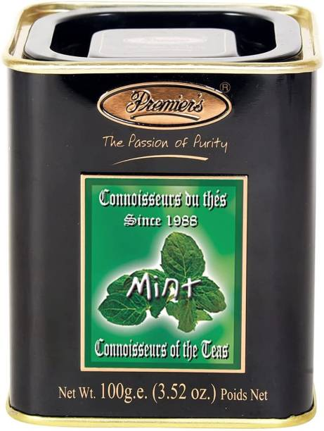 Premiers Mint Flavoured Tea | 50 Cups | 100 Grams | PMSS Loose Leaf Tea Tea Tin