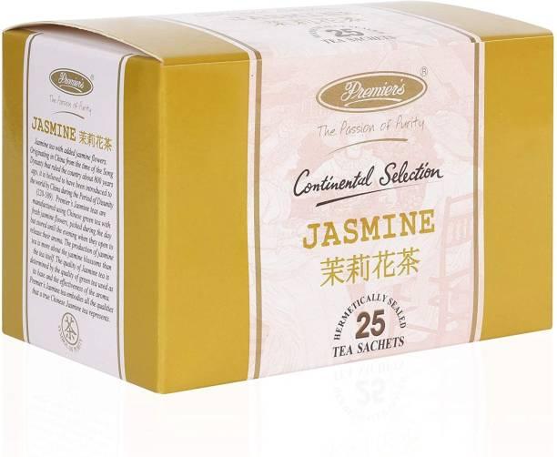 Premiers Jasmine Herbal Infusion | 25 Cups | 37.5 Grams | Tea Bags Jasmine Herbal Infusion Bags Box
