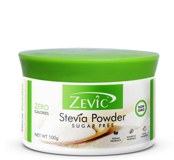 Zevic Zero Calorie Suger Free Stevia Powder for Cooking & Baking | Healthy Subsitute for Sugar, Honey & Other Sweetners Sweetener