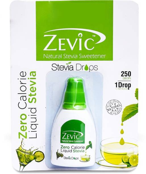 Zevic Zero Calorie Stevia Drops | Made with Stevia Extracts | Ideal for People Managing Weight | Healthy Substitute for Sugar, Honey & Other Sweetener