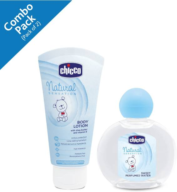Chicco Natural Sensation Bodylotion 150ml and Sweet perfume water 100ml (Pack Of 2)