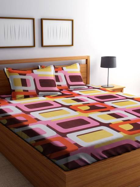 IWS 144 TC Microfiber Double Checkered Bedsheet