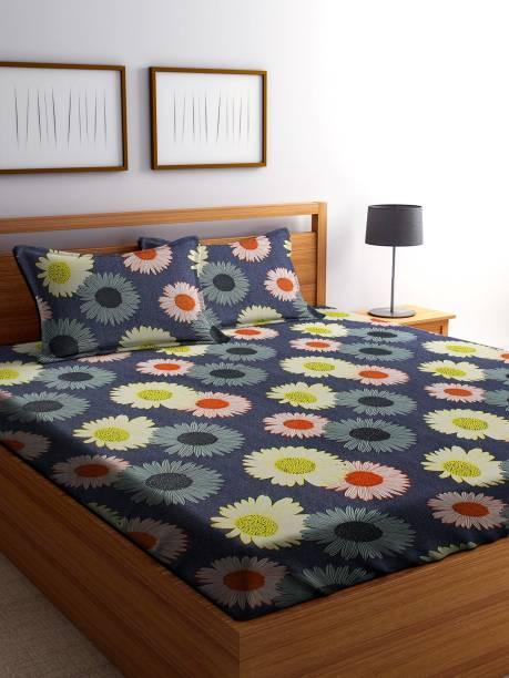 IWS 144 TC Microfiber Double Floral Bedsheet