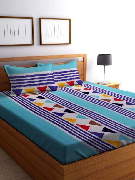 IWS 144 TC Microfiber Double Striped Bedsheet