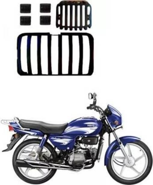 AUTOSCAPES Plastic Black H Splendor Full Cover_05 Bike Headlight Grill