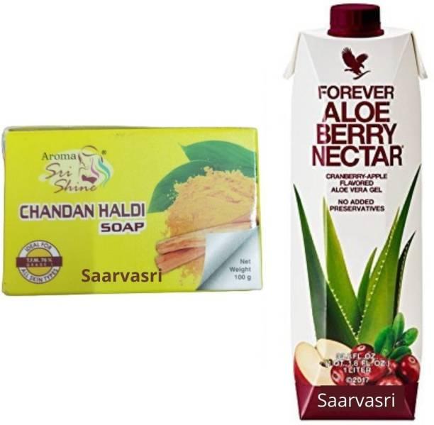 Saarvasri HALDI CHANDAN SOAP WITH FOREVER ALOE VERA NECTAR 1 LTR