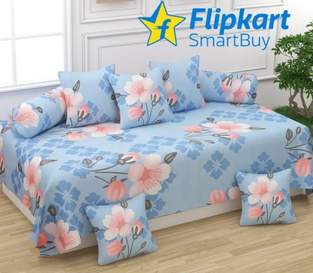 Flipkart SmartBuy Polycotton Floral Diwan Set