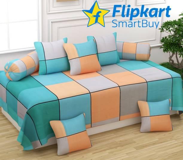 Flipkart SmartBuy Polycotton Checkered Diwan Set