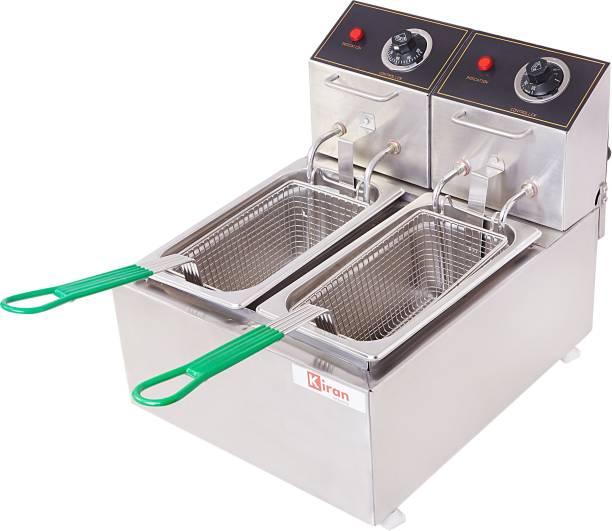 kiran 5 Liter Double PAn Deep Fryer- Electric - 5 L Electric Deep Fryer